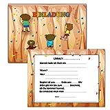 Einladungskarten Kindergeburtstag Klettern Einladung - 10 Stück