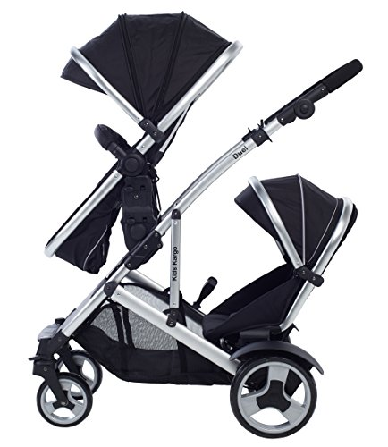 Dual Combo Double Pushchair With Carrycot Pram Newborn