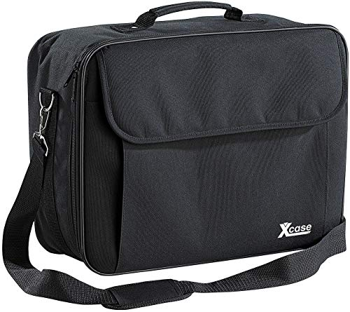 Xcase Case: Gepolsterte Beamer-Tasche Universal mit Innenteiler, Größe L (Beamertasche)