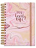 Rachel Ellen Designs Organiseur Personnel Inscription «My Lovely Life» A5 Planning hebdomadaire Sans Date avec Liste de Choses à Faire, Notes, Stickers, Poches