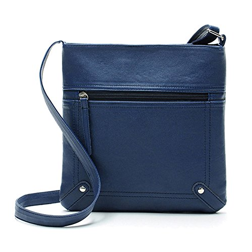 ZOONAI Medium Crossbody Purse for Women, Leather Crossover Bag for Teen Girls