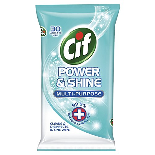 5-x-cif-power-shine-antibacterial-multi-purpose-large-thick-wipes-30-in-each-pack