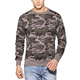 #7: Clifton Mens Army Cotton Sweat Shirt R-Neck-Steel Grey