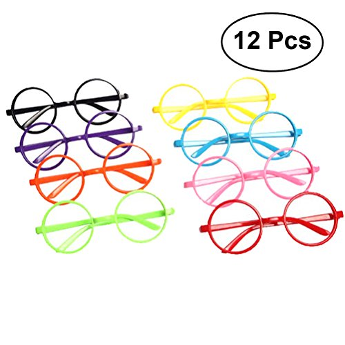 Amosfun Party Glasses Frame Harry Potter Wizard Nerd