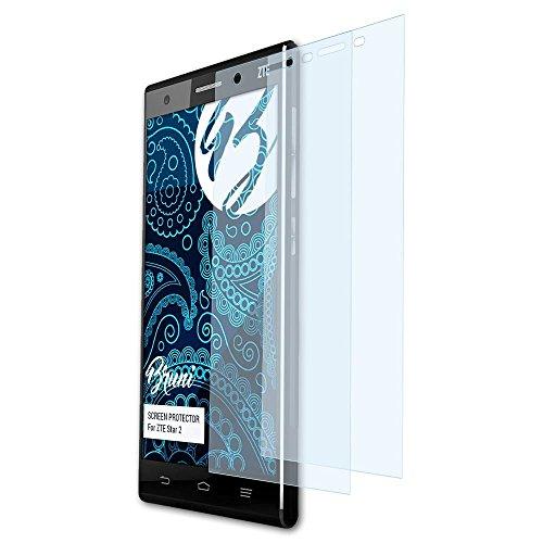 Bruni Schutzfolie für ZTE Star 2 Folie, glasklare Bildschirmschutzfolie (2X)