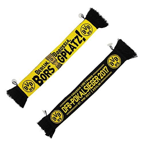 Borussia Dortmund Auto Schal / Car Scarf / Fanschal / Autoschal DFB-Pokalsieger 2017 BVB 09 - plus gratis Aufkleber forever Dortmund