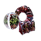 Kids Character Inflatables Armbands Swimming Ring Beach Ball Set Of 3 Size UK 3-6 Years