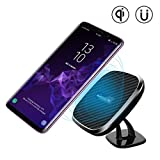 Nillkin Fast Magnetic Wireless Car Charger, Qi Wireless Auto-Ladegerät Pad mit Car Holder für iPhone X, 8/ 8Plus, Samsung Galaxy S9 S9 Plus S8 S8 Plus und andere Qi Geräte