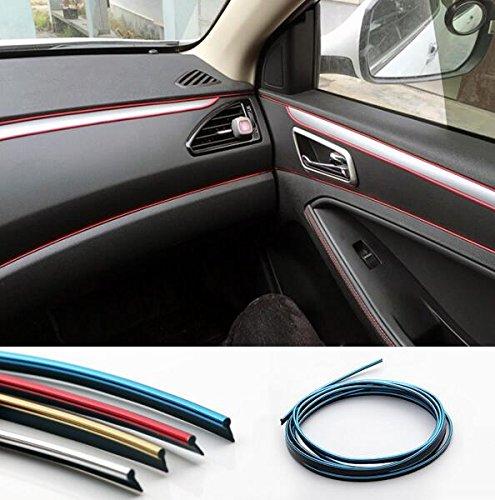 Preisvergleich Produktbild 5M Car Decorative filler strip KIA K2 K3 K5 Sorento SportageR Rio Soul For ford focus cruze kia rio skoda octavia mazda opel bmw Ford Universal (red)