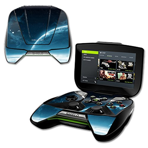 mightyskins Vinyl Schützende Haut Aufkleber für NVIDIA Shield Tragbar Cover Wrap Skins Outer Space Shield Portable