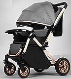 StarAndDaisy Multi-Purpose, Multi-Adjustment Stroller pram Travel Friendly, Broad seat & Bed Buggy for 0-36 Months (Grey…