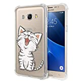 Zhuofan Plus Coque Samsung Galaxy J7 2016, Silicone Transparente avec Motif Design...