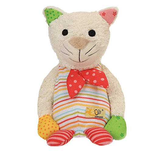 Olli Olbot 32586 Wärmetier Katze Lina aus Baumwolle, L 20 cm, B12 cm