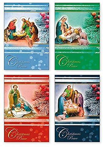 18 cartes de Noël Boîte 4 Designs-Christmas Wishes.