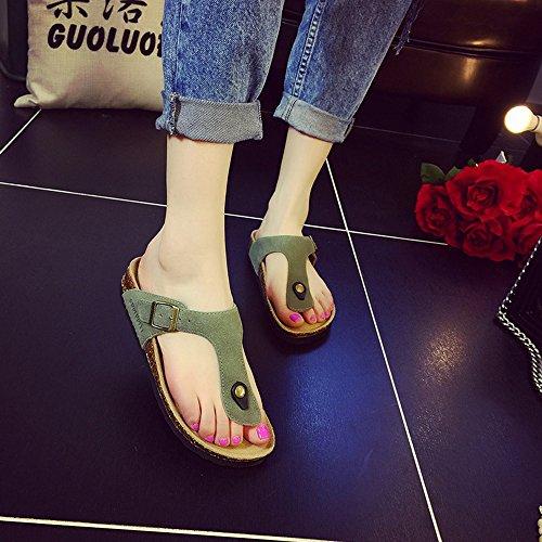 Estate Sandali Pantofole femminili di pistoni del sughero di estate Pattini di modo piatti Pattini da spiaggia delle coppie con molti colori Colore / formato facoltativo #6