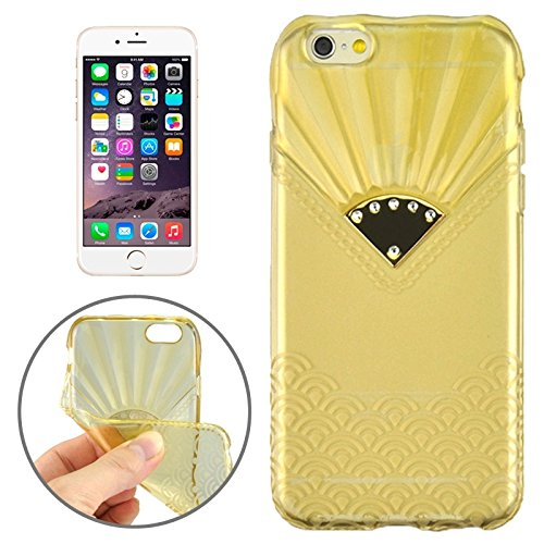 Phone case & Hülle Für IPhone 6 Plus / 6S Plus, Fan Texture Diamond-verkrustete TPU Fall ( Color : Gold ) Gold