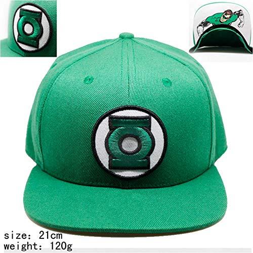 Pallima Cosplay Kostüm Baseball Cap Unisex Herren Damen Baseball Mütze Verstellbart für Tennis Golf Laufen Wandern Reisen Angeln Green Lantern