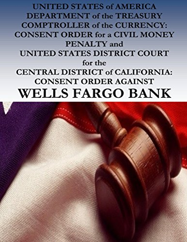 united-states-of-america-v-wells-fargo-bank-consent-order-for-a-civil-money-penalty-english-edition