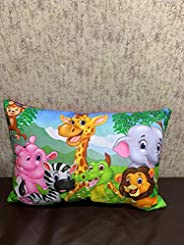 PartyStuff Jungle Animals Kids Pillow Colorful (12x18)