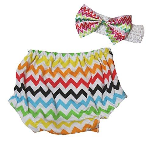 Petitebelle Baby Mädchen (0-24 Monate) Höschen mehrfarbig WhiteMulticoloured M Gr. M, WhiteMulticoloured (Cotton Rainbow Shorts)