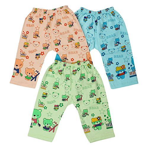 Littly Cotton Baby Pajamas/Leggings, Pack of 3 (Multicolor)