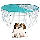 Welpenauslauf Laufstall Freigehege Netz Verzinkte Hunde Tier 8 Elemente 60x63cm