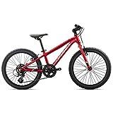 ORBEA MX 20 Zoll Dirt Kinder Fahrrad 7 Gang MTB Rad Aluminium Mountain Bike, I008, Farbe rot