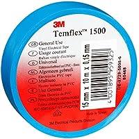 3M tbla2525TEMFLEX 1500vinilo eléctrico de cinta aislante, 25mm x 25m, 0,15mm), color azul