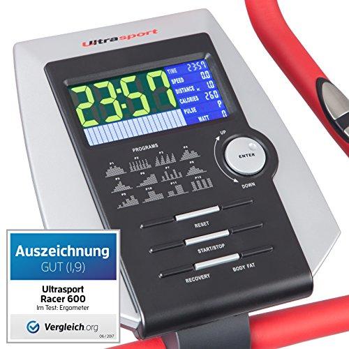 Ultrasport Heimtrainer Racer 600 mit Handpuls-Sensoren - 2