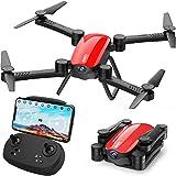 SIMREX X900 Drone Position Positionnement du Flux Optique Qu Quadricoptère RC avec caméra 1080P HD, Mode sans tête Hold Altitude, FPV Drones Pliable Vidéo en Direct Wi-FI Flips 3D 6axis RTF