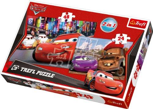 Disney Trefl 2-in-1-Puzzle Paris Tokio Cars