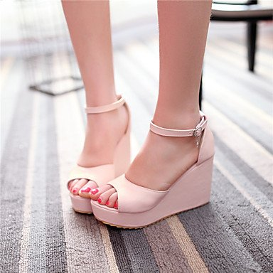LvYuan Damen-Sandalen-Lässig Party & Festivität-PU-Keilabsatz-Andere-Grün Rosa Lila Weiß Pink