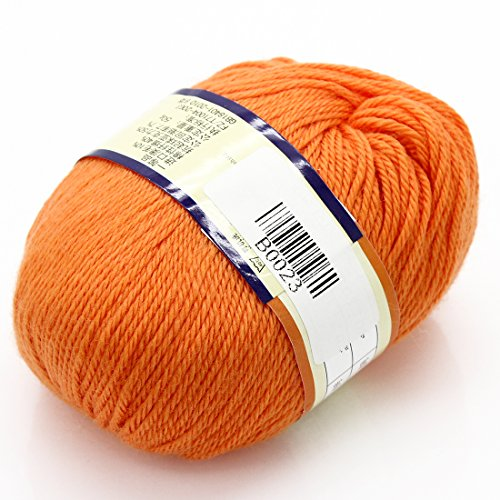 joyliveCY Joystore Baby Handwerk Garn Kammgarn Pullover Weiche Wolle Cashmere Strick 50g Gummigutta (Kammgarn Stricken Garn)