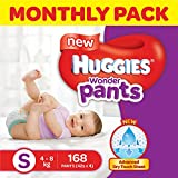 #5: Huggies Wonder Pants Small Size Diapers Monthly Pack (168 Count)