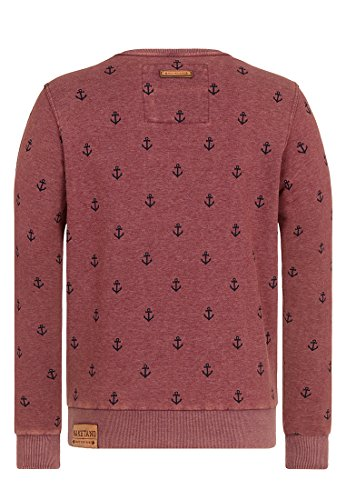 Naketano Male Sweatshirt Rise Of An Enemy III Heritage Bordeaux Melange