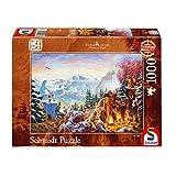 Schmidt Spiele Puzzle 59481 Thomas Kinkade 59481-Thomas, Ice Age, 1.000 Teile Puzzle, bunt