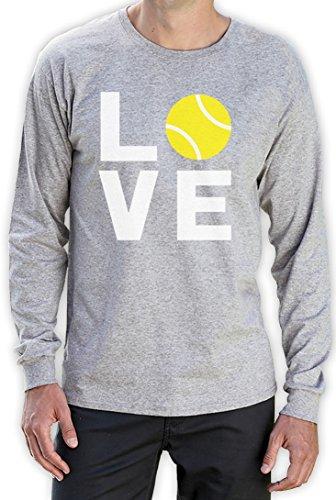 Love Tennis - Sportliches Geschenk für Tennisfans Langarm T-Shirt Grau