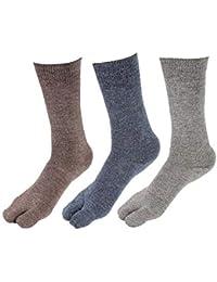 EK UDAAN Unisex Woolen Thermal Wear Thumb Socks (Multicolour, Free Size) - Set of 3