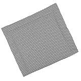 Sugarapple Wickelauflage 85 x 75 cm ca. 3 cm dick mit Oberstoff aus 100% Baumwolle, innen weich und warm wattiert, doppelt abgesteppte Nähte und machinenwaschbar, Grau mit weißen Sternen