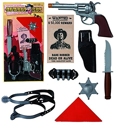 Role Play Essentials - Cowboy Set with 9 Pieces -