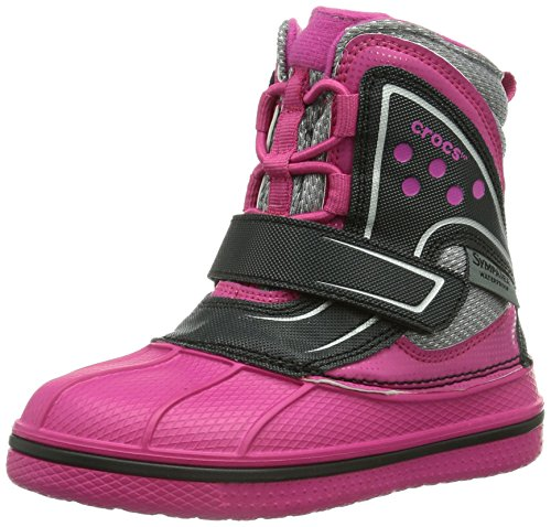 Crocs Allcast Waterproof Boot Gs, Boots mixte enfant Rose (Candy Pink/Black)