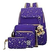 MINGCHEN, Set de Sac scolaire violet violet moyen