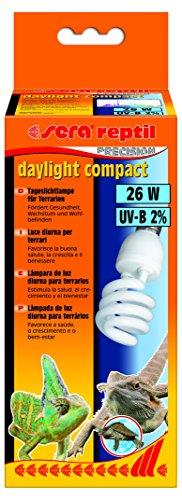 Sera 32018Reptil Daylight Compact/26W (2% UV B) la luz Diurna lámpara para terrarios, favorece Salud, Crecimiento y Bienestar