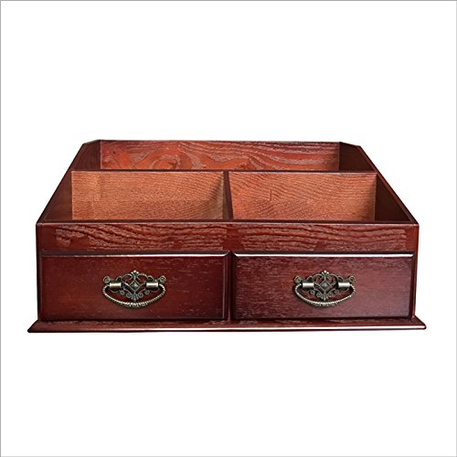 XBR-Kosmetik Aufbewahrungsbox XBR mittlere desktop hölzerne kosmetik - container, hölzerne hautpflege produkt, kiste, schminktisch, sortieren box - schublade,bordeaux - wein (Schublade Wein)