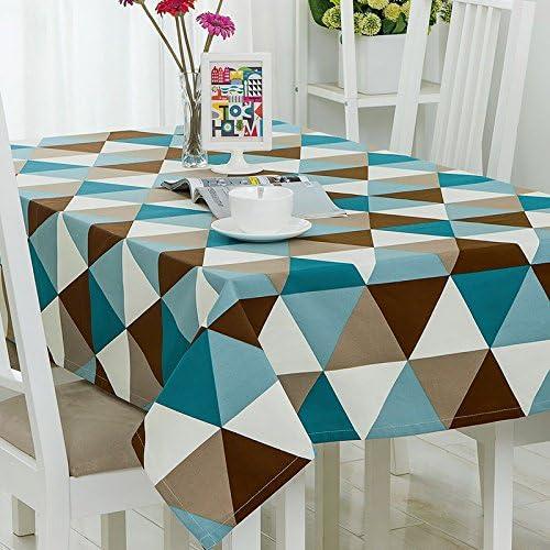 80120 cm cm cm Marroneee blu triangolo geometrico moderno scandinavo Instagram Garden picnic rettangolare da pranzo tovaglia in cotone lino quadrato eco-friendly copre B076CGRP3B Parent | A Prezzi Convenienti  | Conveniente  | Nuove varietà sono introdotte  fab607