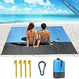 DA HENG Kompaktes Picknickdecke Outdoor Wasserdicht Sandabweisend Picknickmatte, Riesige 210 x 200 cm - Stranddecke Sehr Weiches und Schnell Trocknendes Nylon - Ideal für Reisen, Wandern und Festivals
