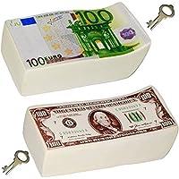 Preisvergleich für alles-meine.de GmbH Große Spardosen - Bündel mit 100 - Euro & 100 Dollar - Scheine - Incl. S..