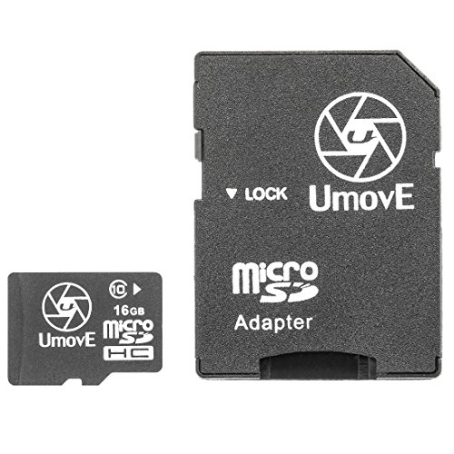 Ultrasport Umove Zubehör MicroSDHC 16 GB Class 10 Speicherkarte mit Adapter, One size, 331400000144