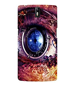 printtech Technical Eye Back Case Cover for One Plus One::One Plus1