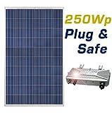 250Wp Poly Balkonmodul Solaranlage Plug & Safe zum Einspeisen ins Hausnetz